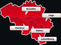 Nos bureaux en Belgique et au Luxembourg