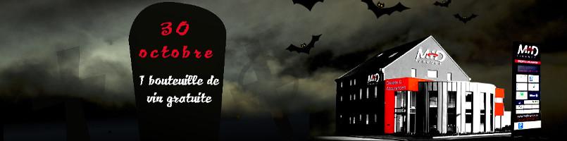 La bouteille de vin offerte pour fêter Halloween